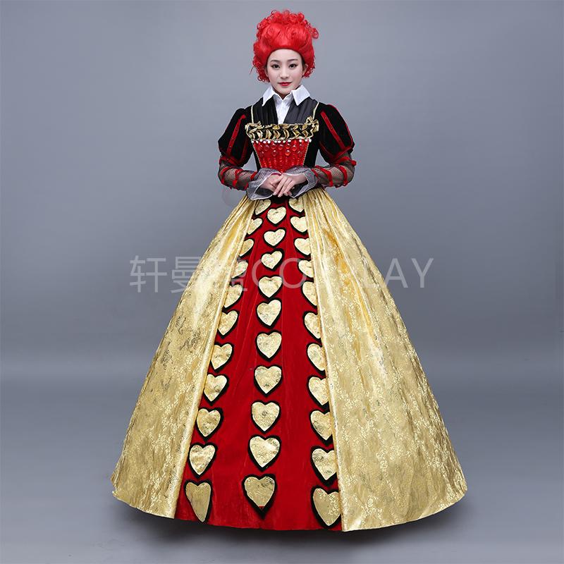 不思議の国 コスプレ 女性 コスチューム 仮装 ハートの女王 大人用|ドレス 衣装 セクシー 大人 コスプレ衣装 コス 可愛いコスプレ 余興 レディース 可愛い 女王 キャラクター かわいい 女性用 ヴィランズ 宴会 悪役 大きいサイズ ホワイトデー バレンタイン ハロウィン