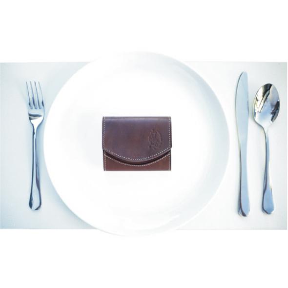 小さい財布 栃木レザー 【極小財布】クアトロガッツ ペケーニョチョコレート
