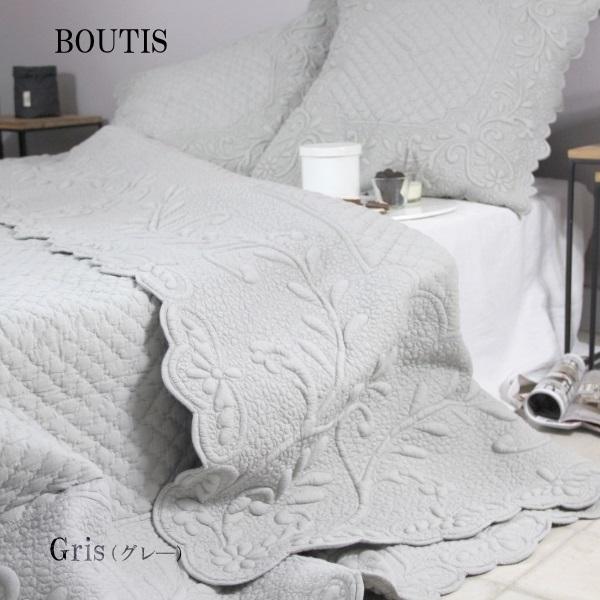 フランスブティ ベッドカバーEcru 240×260cm