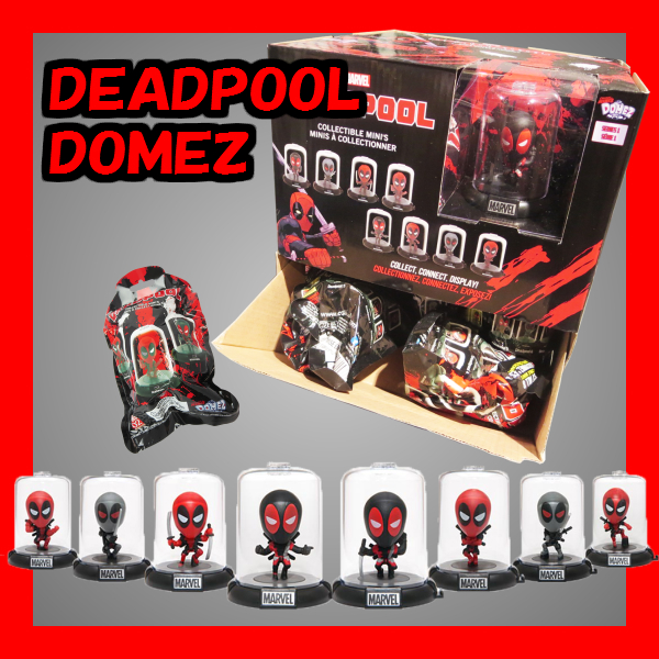 DEADPOOL DOMEZ デッドプール ドームズ 24個入り 【ミニボビング フィギュア】マーベルキャラクターのミニフィギュア