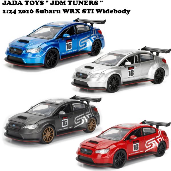 JADATOYS 1/24 2016 SUBARU WRX STI Widebody ミニカー 四台アソートセット