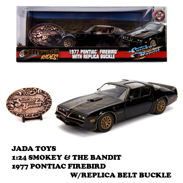 1:24 SMOKEY & THE BANDIT 1977 PONTIAC FIREBIRD W/REPLICA BELT BUCKLE 【トランザム7000 ミニカー】ポンティアック・ファイヤーバードミニカー 1/24 ダイキャストミニカー JADA TOYS  MINI CAR