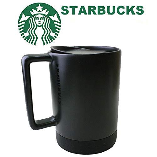 スターバックスロゴマグカップ 色:ブラック/蓋付き 14オンス414ml 海外限定 アメ雑貨