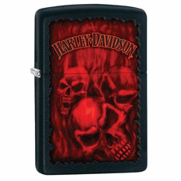 ZIPPO ライター  HARLEY-DAVIDSON Red Skull / ハーレー クリスマス ギフトライター ブランド ライター おもしろ Made in U.S.A 喫煙具 タバコ 彼氏 お父さん ギフト 誕生日プレゼント
