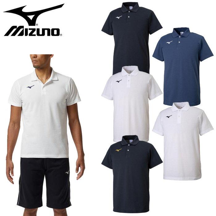 ミズノ(mizuno)ポロシャツ(メンズ レディース シャツ トレーニングウェア 運動 スポーツ カジュアル ワンポイント)32MA9195
