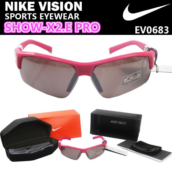 【即納・45%OFF!】ナイキ(NIKE) サングラス SHOW-X2.E PRO (メンズ レディース スポーツ アイウェア ナイキヴィジョン VISION ピンク 耐衝撃 撥水) EV0683