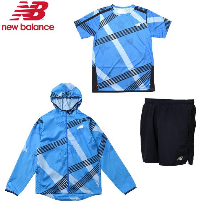ニューバランス メンズ ランニング3点セット あす楽対応 送料無料 New 大好評です ショートパンツ Tシャツ ランニング ジャケット オンライン限定商品 AMJ01210-AMT01205-AMS93196 Balance