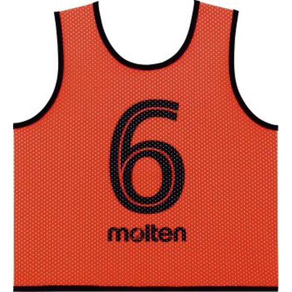 モルテン GS0112KO ゲームベストGVジュニア10枚セット 蛍光オレンジ 蛍光オレンジ(ビブス 子ども 子供)
