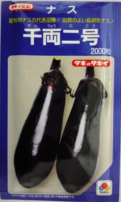 【タキイ種苗】千両2号ナス 2000粒