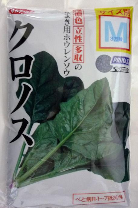 ホウレンソウのタネ 極濃緑 立性 多収の秋まき用ホウレンソウ 安値 サカタのタネ M 30000粒 クロノスほうれん草 定番から日本未入荷