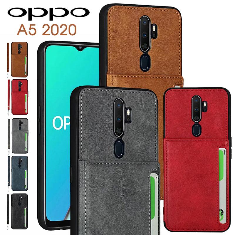 OPPO A5 2020 ケース ※アウトレット品 カード収納 oppo a5 2020ケース 背面保護 オッポA5 カバー かわいい オッポA5ケース シンプル ストラップ付き 返品送料無料 2020カバー OPPOケース スマホケース スマートフォンケース おしゃれ スタンド機能 opp 2020背面ケース