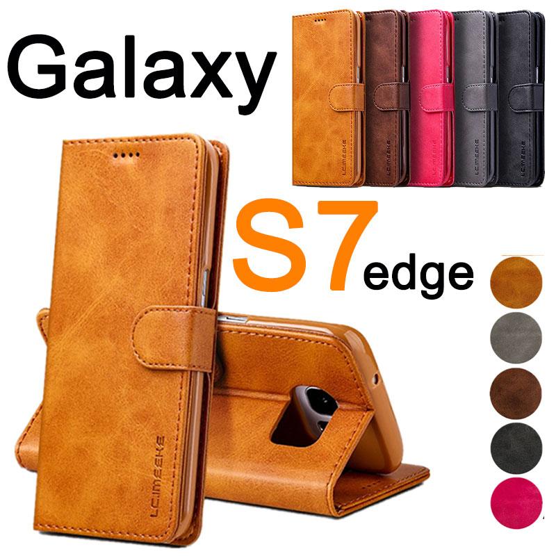 Galaxy S7 edgeケース 手帳型 edgeカバー スタンド機能 edge手帳ケース TPU 衝撃吸収 ギャラクシーS7エッジ カバー カード収納 液晶保護 落下防止 激安セール ギャラクシーS7 横開き エッジ 人気 スマホケース edge手帳型スマホケースケース シンプル エッジケース ビジネス SC-0 edge 送料無料お手入れ要らず edge保護 財布型
