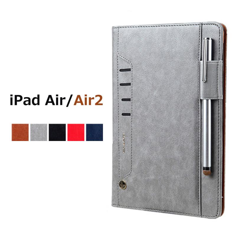 iPad Airケース Air 2ケース スタンド機能 Air2 レザーケース アイパッドエアー2 カバー タブレットPCケース カバーiPad ケース 革iPad 二つ折 アイパッドエアー カード収納 ギフト アイパッドケース 大容量iPad 手帳型ケースiPad 手帳型ケース 至上 かわいいiPadケースiPad おしゃれ スタンドケースiPad スマート Airケース手帳型 Air2ケース