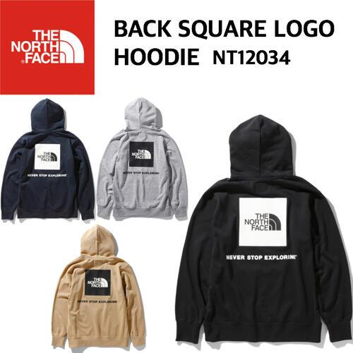 【THE NORTH FACE ノースフェイス】Back Square Logo Hoodie バックスクエアロゴフーディ スウェット メンズ アウトドア スポーツ タウンユース 速乾 NT12034 国内正規