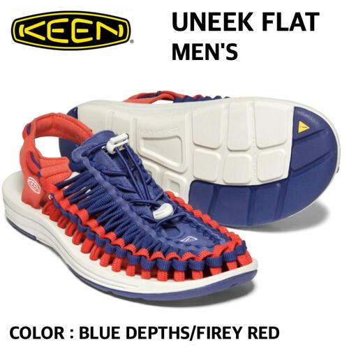 【KEEN キーン】UNEEK FLAT ユニーク フラット メンズ US9 27cm 3シーズン 国内正規