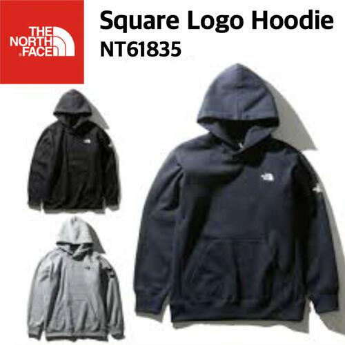 【THE NORTH FACE ノースフェイス】Square Logo Hoodie スクエアロゴフーディ スウェット 裏起毛 メンズ NT61835 国内正規
