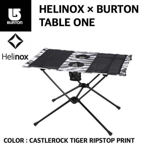 【HELINOX × BURTON ヘリノックス × バートン】TABLE ONE テーブルワン CASTLEROCK TIGER RIPSTOP PRINT キャッスルロックタイガー リップストッププリント 軽量 国内正規