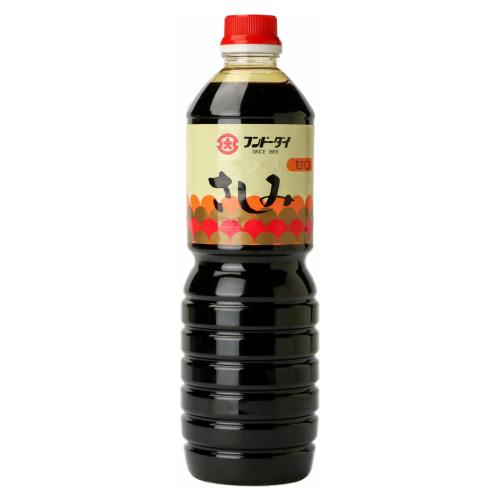 九州の嗜好に合わせた甘口タイプのさしみしょうゆです。適度なとろみを持ち、塩分を控えめにしています。 さしみしょうゆ甘口 1L