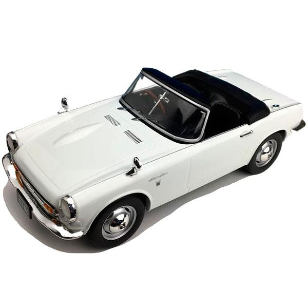 新品未使用 細部までこだわって作り上げられたモデルカー First18 ファースト18 ホンダ S800 通常便なら送料無料 F18014 ホワイト 18スケール 1 コンバーチブル