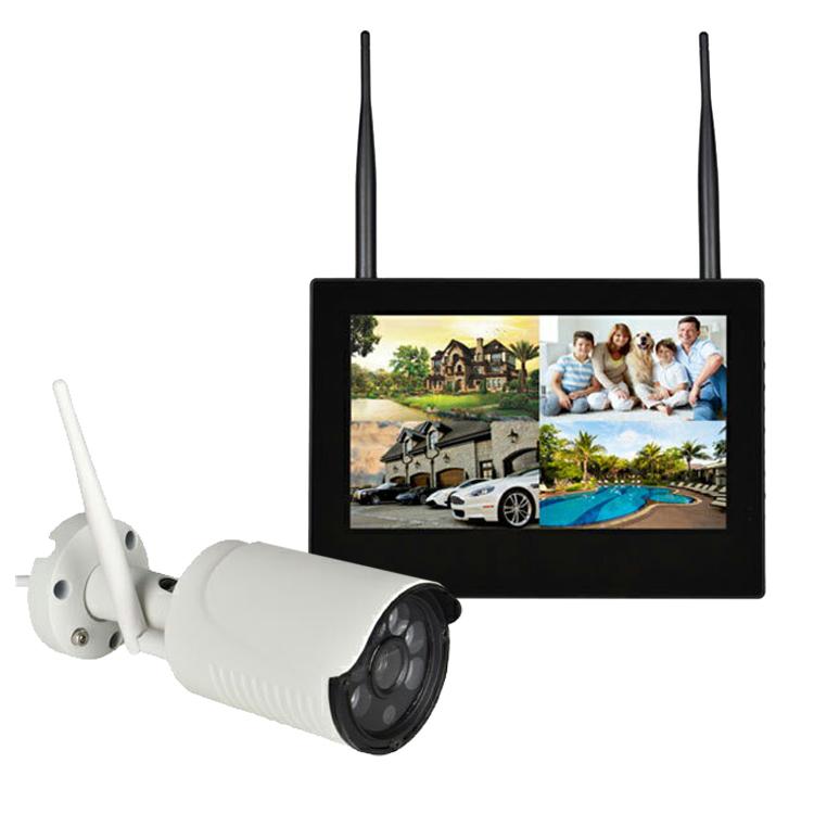 カメラ2台セット 10インチモニター ワイヤレス防犯カメラセット 無線NVR + WIFI 屋内・屋外両用 スマホ/タブレット対応 遠隔監視 日本語メニュー HDD録画 WF6112