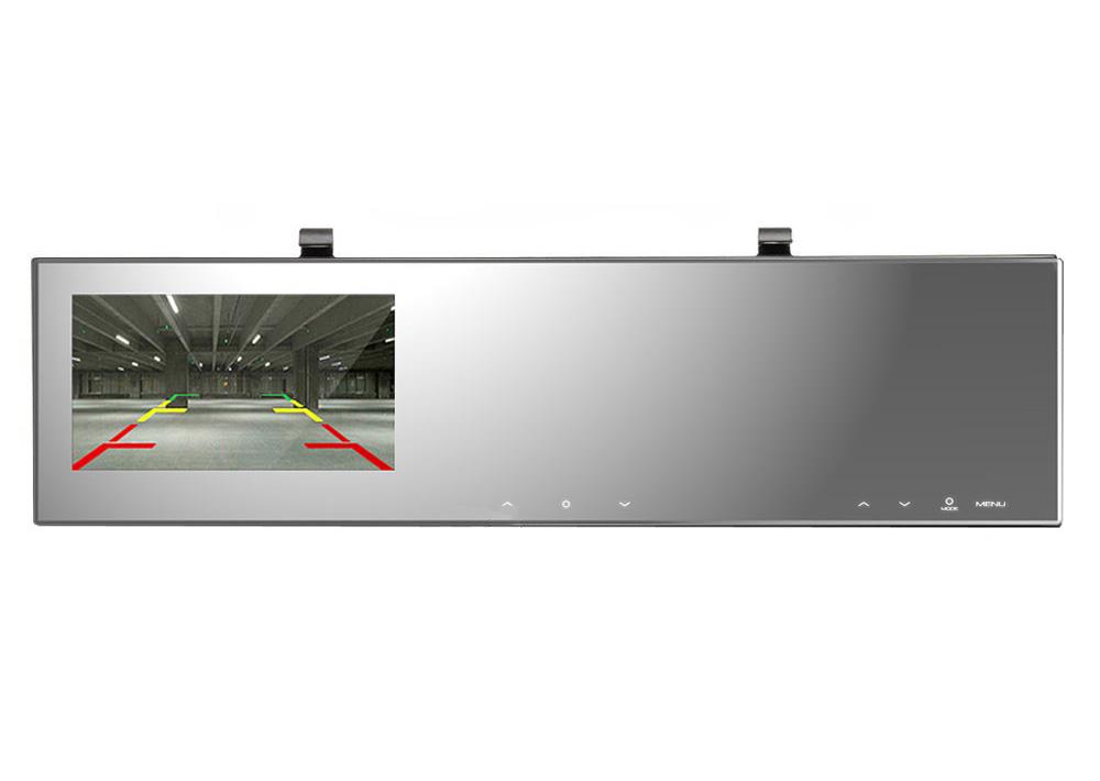 ルームミラー型ドライブレコーダー 2K録画 4.3インチタッチパネル 簡単取付 常時録画可 高画質 バックカメラ連動可 映像入力付き DRRM2K