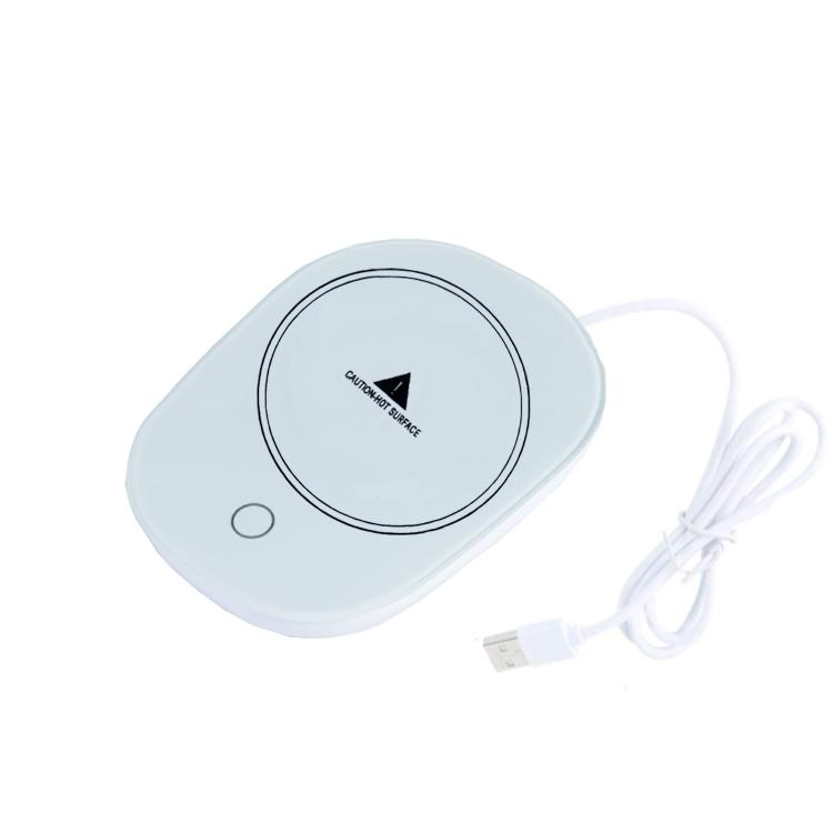 USBコップウォーマー 5☆好評 USB給電式 保温温度40度 保温コースター カップウォーマー 適温 自動的にON 国内在庫 おしゃれ OFF USBCW50C 冬場に最適 携帯に便利 暖か