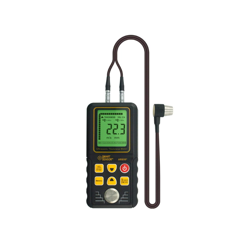SMART SENSOR [AR850+] 鉄 銅 真鍮 亜鉛 石英ガラス PVCなどの厚さが簡単に測定 データ保存機能付き 腐食調査に デジタル超音波厚さ計 AR850+