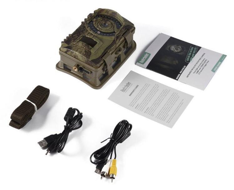 トレイルカメラ 乾電池式 屋外 ハンティングカメラ 防犯カメラ 1600万画素 1080P FHD 64GBカード対応 最大6ヵ月 動体検知 防水 暗視 時差撮影・録画 不可視赤外線 HCD3