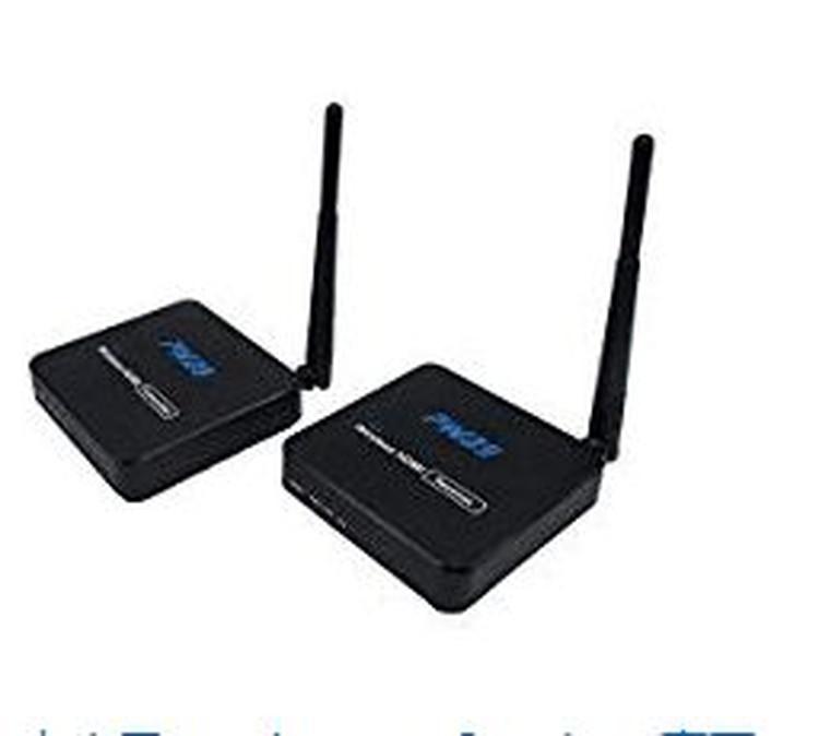 1080P対応 ワイヤレスHDMI送受信機セット 映像&音声をワイヤレスで送受信セット 受信機側リンコン操作可 コンパクトサイズ 1080P映像トランスミッター DT216W