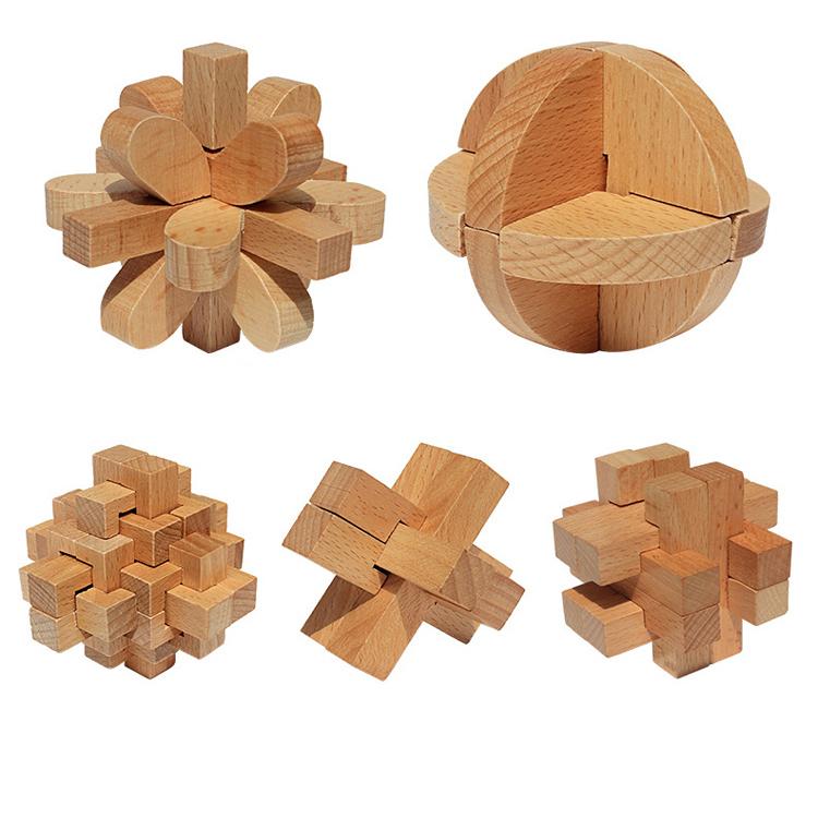 孔明鎖 孔明パズル 知恵教育 教育玩具 脳トレ 高齢者のボケ防止に 大人も子供も幅広く 木製 木製パズル 知恵おもちゃ ギフト 期間限定送料無料 KMEPP5S 入手困難 立体パズル 中国伝統ゲーム 5個セット
