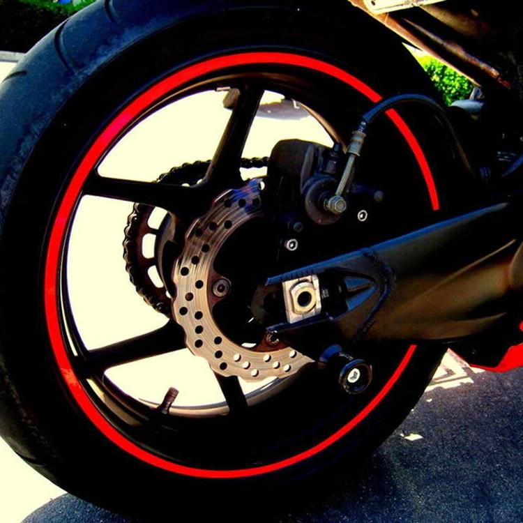 ホイール用ステッカーセット 16本 バイク 自動車用 17or18インチ対応 2020秋冬新作 リムステッカー 反射素材 ホイールステッカー タイヤ バイクにお勧め BIKSTK18 高級品 簡単施工 防水