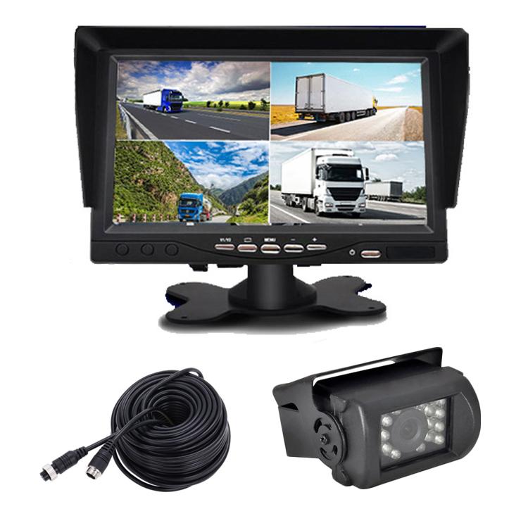 12/24V トラック対応 ドライブレコーダー 4PINタイプ 7インチ 遮光式モニター SDカード録画記録 4チャンネル同時録画可 4分割表示可 カメラケーブル1セット MN74DVRPROSET1
