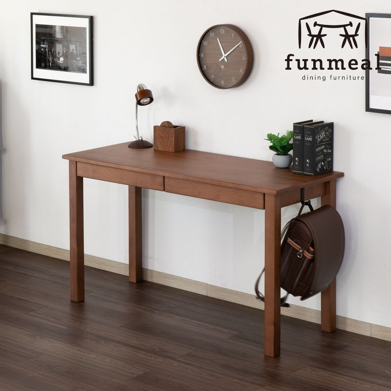 学習机 シンプル 椅子 おしゃれ 学習椅子 子供 木製 おすすめ 学習デスク 子供用家具 人気ブレゼント 無垢材 125cm DALDIA ダルディア アルダー デスク ミディアムブラウン 101-01944 DESK 125 NEW AL-MBR 天然木