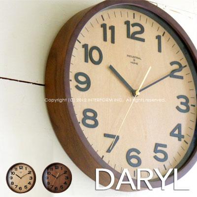 送料無料!電波時計 DARYL (ダリル) 壁掛け時計 CL-7973 。