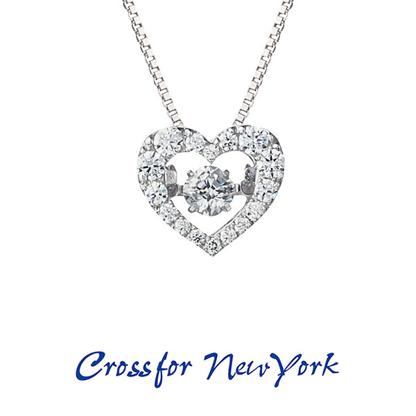 クロスフォー ニューヨーク NYP-540 シルバー925 【Crossfor DancingStone】クロスフォー ダンシングストーン シリーズ Jupiter【送料無料】揺れるジルコニア 彼女へのプレゼント