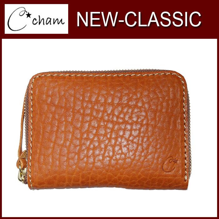 チャム ニュークラシック CMJS-008 CAMEL CHAM 製品完成後水分を加えて擦むことによりボリュームがある自然な仕上がり。 財布 革プレゼント キャメル