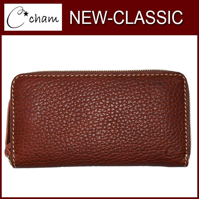 チャム ニュークラシック CMJS-007 CHAM 製品完成後水分を加えて擦むことによりボリュームがある自然な仕上がり。 財布 革プレゼント チョコ