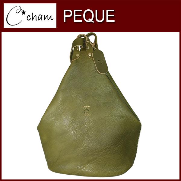 cham PEQUEONE SHOULDER BAG LXBX-001 OLIVE 素材の風合いを壊さないようシンプルで出来るだけ切り替えを少なく、そして暖かいシルエットをテーマにデザイン致しました。ほっこりとクラフト感があふれるテイストになっております。