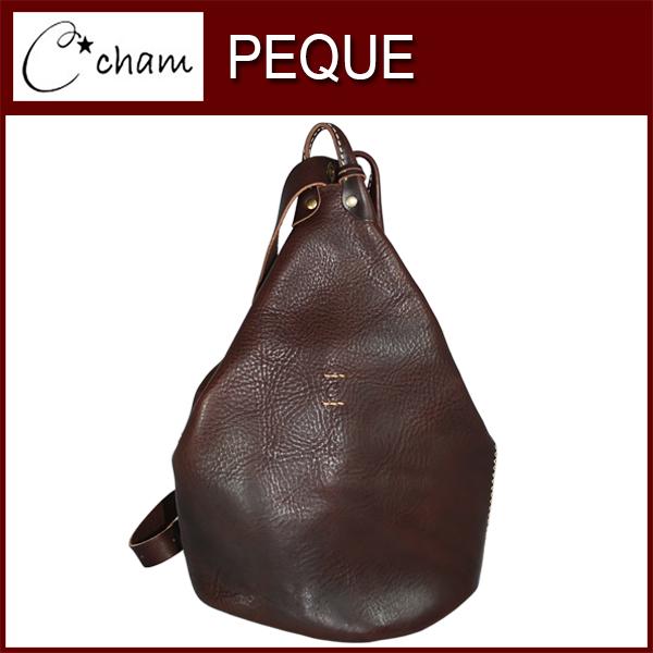 cham PEQUE ONE SHOULDER BAG LXBX-001 BROWN 素材の風合いを壊さないようシンプルで出来るだけ切り替えを少なく、そして暖かいシルエットをテーマにデザイン致しました。ほっこりとクラフト感があふれるテイストになっております。