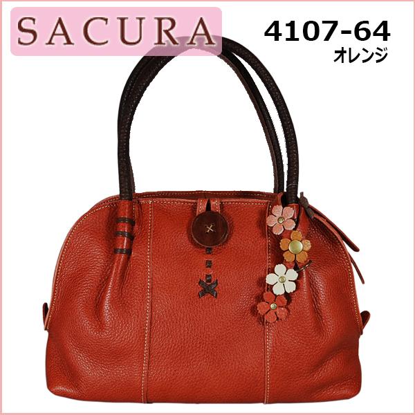 SACURA FLORESCO 4107-64 オレンジ【送料無料】【日本製】ハンドバッグ レディースバッグ バッグ サクラ