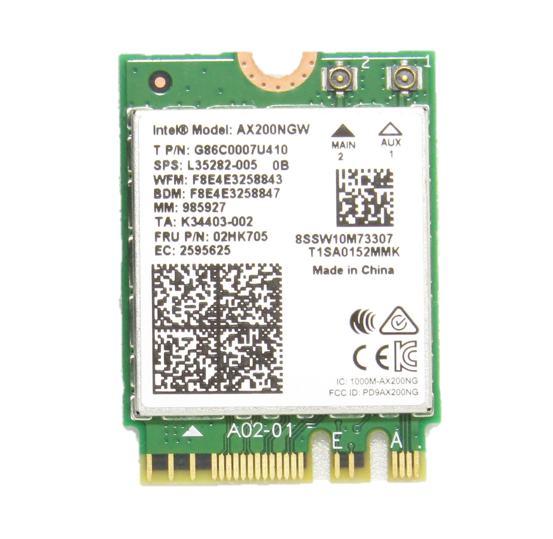 intel Wi-Fi 6 bluetooth 新作送料無料 5.0 一部予約 インテル Intel AX200 AX200NGW 802.11AX + 子機 m.2 M.2 m2 ワイヤレスカード Bluetooth NGFF ノート note パソコン アップグレード