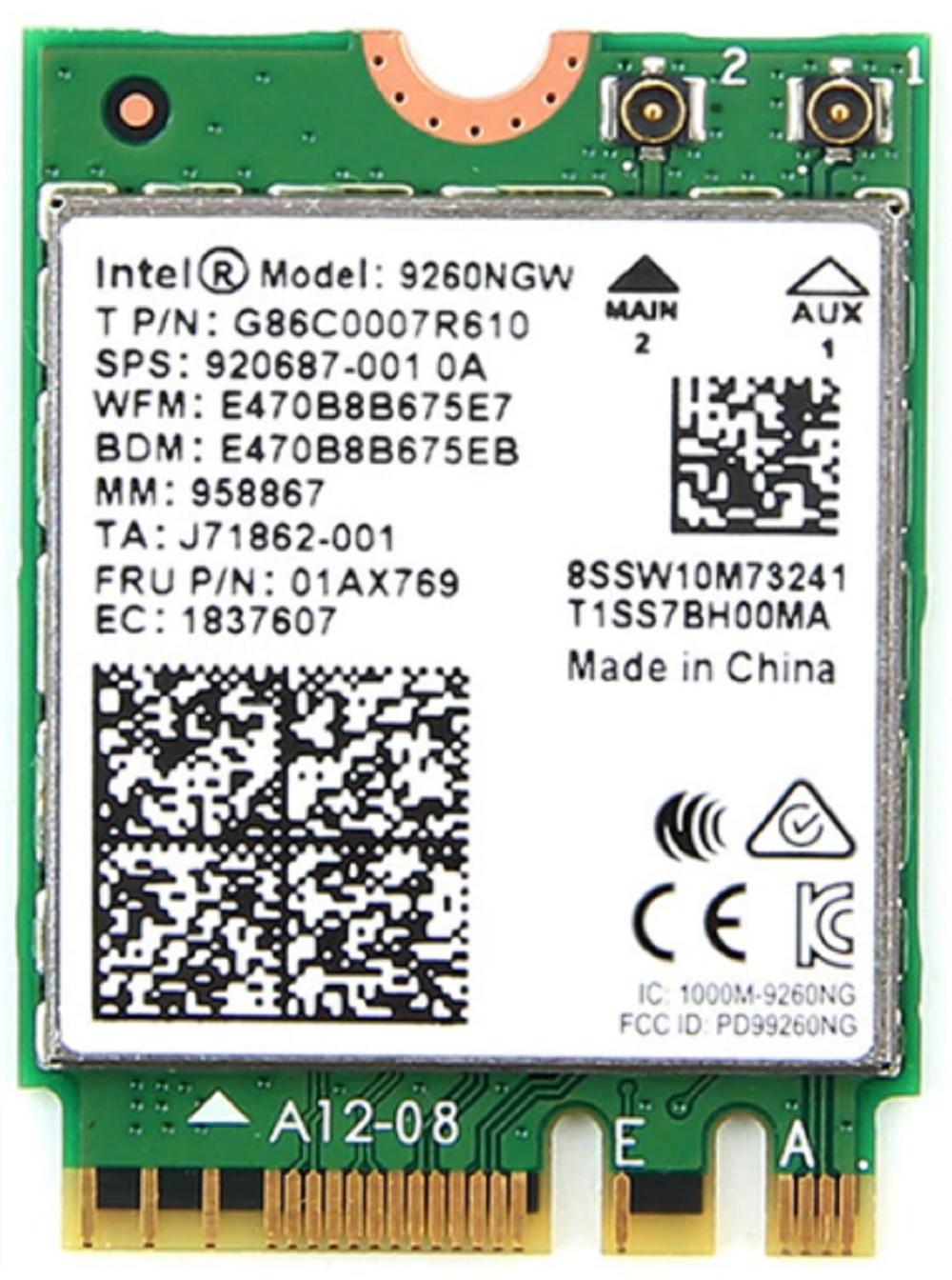 intel Wi-Fi 5 bluetooth 1733Mbps ですが AX200 より安価です インテル Intel 9260 NGW 802.11AC NGFF 超激得SALE パソコン 子機 アップグレード ノート + Bluetooth note m2 気質アップ M.2 m.2 ワイヤレスカード