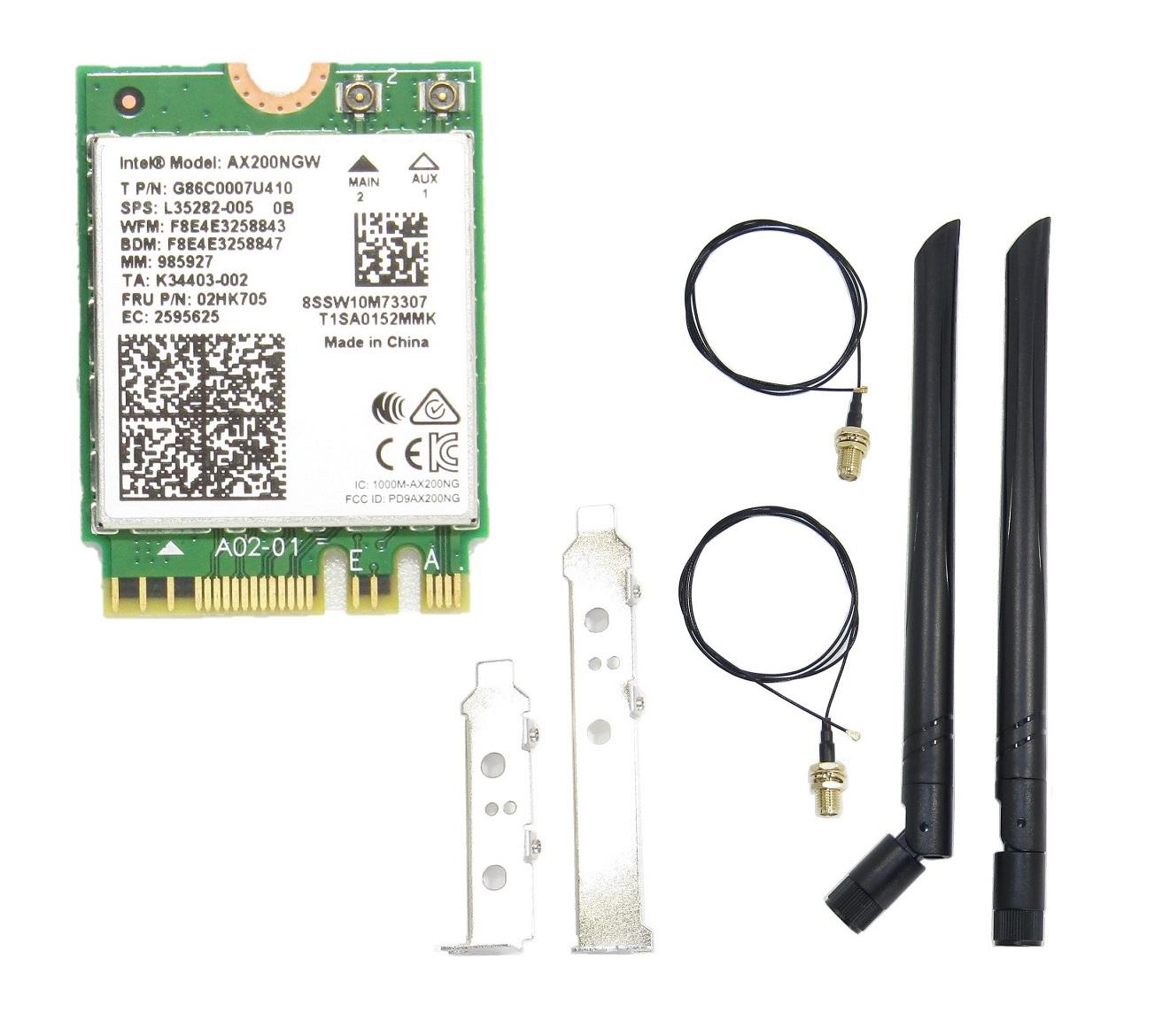 intel Wi-Fi 6 日時指定 bluetooth 5.0 アンテナ セット アンテナセット インテル Intel AX200 AX200NGW 802.11AX note パソコン 子機 アップグレード M.2 ノート NGFF m2 + Bluetooth 高額売筋 m.2 ワイヤレスカード