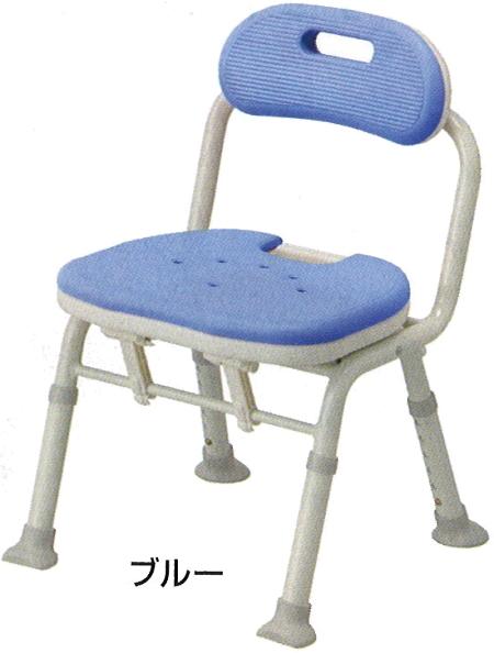 【安寿】コンパクト折りたたみシャワーベンチIC ★ブルー★(背付きタイプ)介護用 風呂椅子