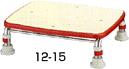 """【安寿】ステンレス製浴槽台R""""あしぴた""""12-15・吸盤付で中でも外でもらくらく入浴。【送料無料】 SPL%OFF"""