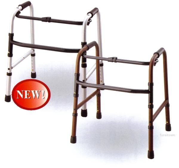 【超低床固定式歩行器】カラー:モカブラウン・ミスティシルバー【テツコーポレーション(哲商事)】高さ60~70cm・高さは60cmから5段階で調節OK。低~い、固定式歩行器。折りたたみ式【送料無料】 SPL%OFF