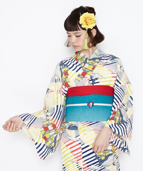 """ふりふ original obi buckle strapwork """"palette bijou obi buckle"""""""