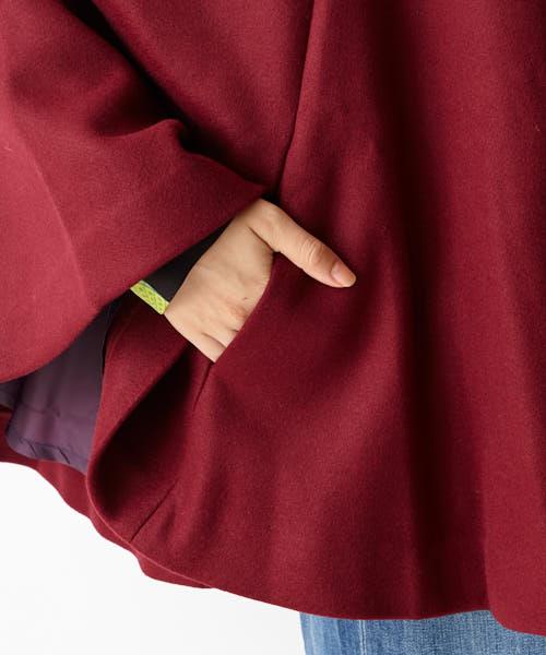 スタンドカラー刺繍ケープ 着物 ケープ ふりふオリジナル アウター ケープ 羽織り 刺繍 猫 椿 着物コート モダン レトロ 上品 大人女子 黒 ワイン 大正ロマン アウター ふりふ furifuvf6g7byY