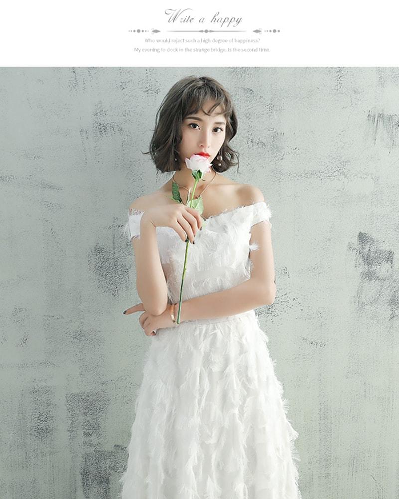 花嫁ドレス ウエディングドレス ロングドレス 夏 前撮り 春