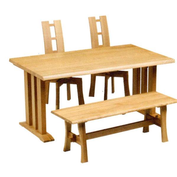 \ポイント増量&お得クーポン/ダイニングセット 4点セットタモ無垢集成材 テーブル130cm幅「エブリー2型」 送料無料 開梱設置